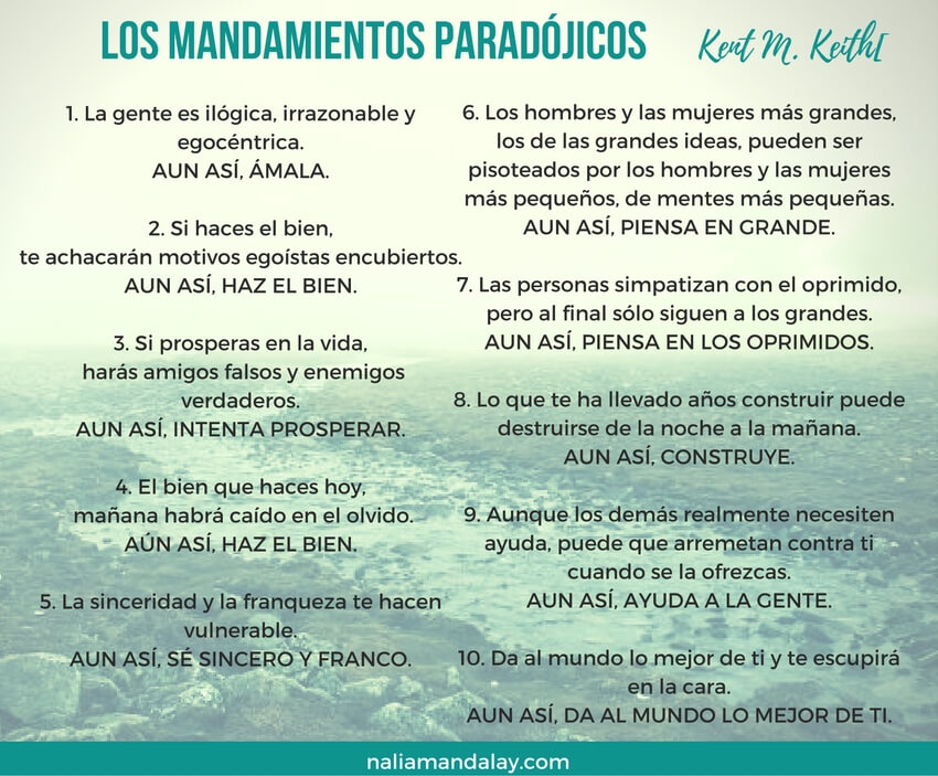 4-los mandamientos paradójicos Kent Keith