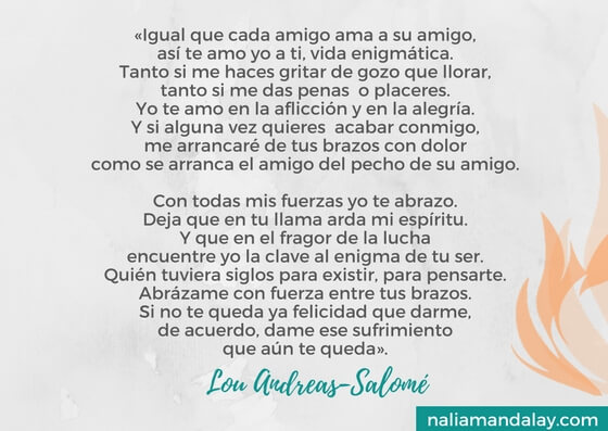 Lou Andreas-Salome oracion a la vida himno a la vida nietzsche