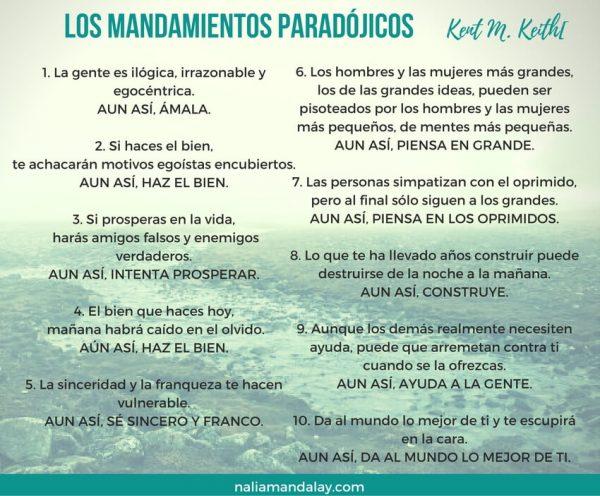 los mandamientos paradójicos- keith-keth